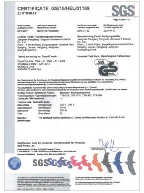 CERTIFICATE GS/15/HEL/01189